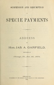 Cover of: Suspenson and resumption of specie payments