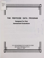 Cover of: The Pesticide Data Program