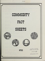 Cover of: Commodity fact sheets