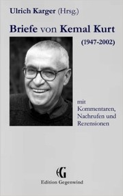 Cover of: Briefe von Kemal Kurt (1947-2002)