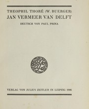 Cover of: Jan Vermeer van Delft
