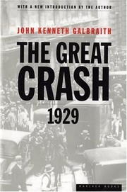 Cover of: The Great Crash 1929 by