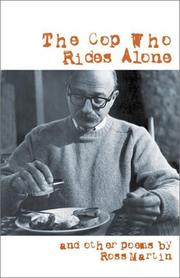 Cover of: The cop who rides alone | Martin, Ross