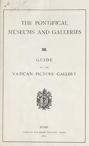 Cover of: Guide to the Vatican picture gallery | Vatican. Pinacoteca
