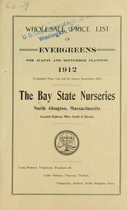 Cover of: Wholesale price list of evergreens