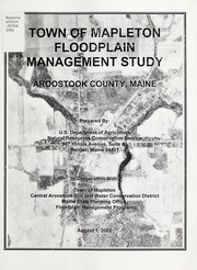 Cover of: Town of Mapleton floodplain management study | United States. Natural Resources Conservation Service