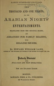 Cover of: The thousand and one nights