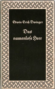 Cover of: Das namenlose Heer