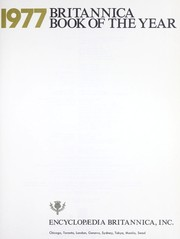 Cover of: Britannica book of the year : 1977 |