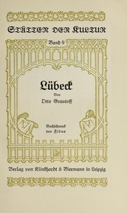 Cover of: Lübeck | Grautoff, Otto