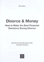 Cover of: Divorce & money