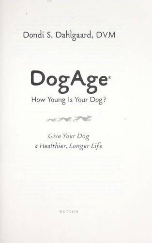 Dog age : how young is your dog? by