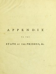 Cover of: Appendix to the state of the prisons in England and Wales, &c. ...
