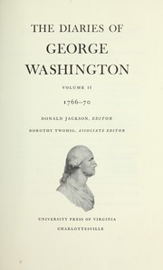 Cover of: The diaries of George Washington