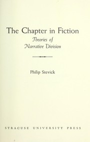 Cover of: The chapter in fiction