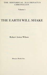 Cover of: The earth will shake | Robert Anton Wilson