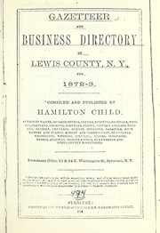 Cover of: Gazetteer and business directory of Lewis county, N.Y.