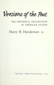 Cover of: Versions of the past