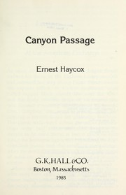 Cover of: Canyon passage