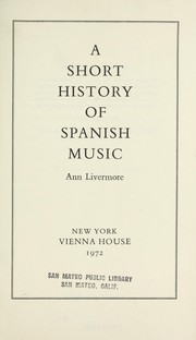 Cover of: A short history of Spanish music