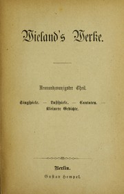 Cover of: Wielands Werke
