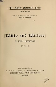 Cover of: Witty and witless, c. 15?