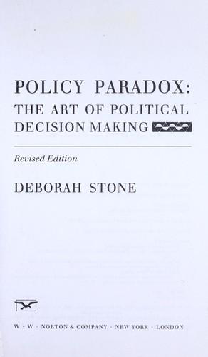 deborah stone policy paradox