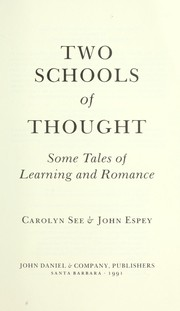 Cover of: Two schools of thought | Carolyn See