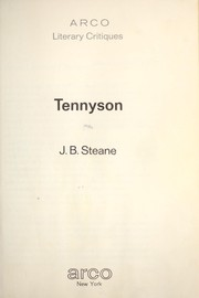 Cover of: Tennyson