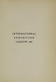 Cover of: Official catalogue fine arts section | International Exhibition of Industry, Science and Art (1888 Glasgow, Scotland)