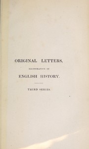 Cover of: Original letters illustrative of English history | Ellis, Henry Sir