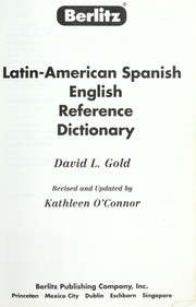 Cover of: Berlitz Latin-American Spanish English reference dictionary