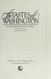 Cover of: The tastes of Washington | Fred Brack