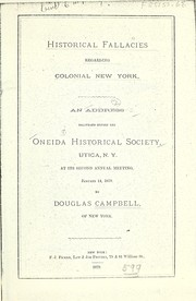 Cover of: Historical fallacies regarding colonial New York