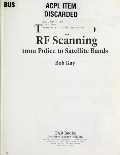 Tuning in to RF scanning by Bob Kay