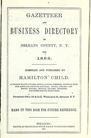 Cover of: Gazetteer and business directory of Orleans County, N.Y. for 1869