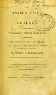 Cover of: An introduction to geology, illustrative of the earth