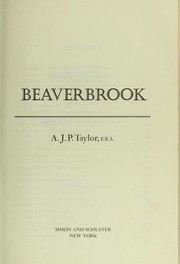 Cover of: Beaverbrook