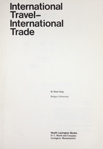 International travel--international trade (1970 edition