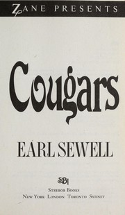 Cover of: Cougars | Earl Sewell