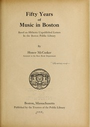 Cover of: Fifty years of music in Boston