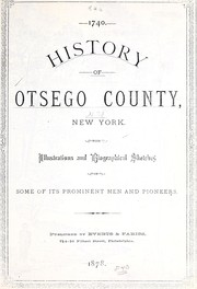 Cover of: History of Otsego County, New York | D. Hamilton Hurd
