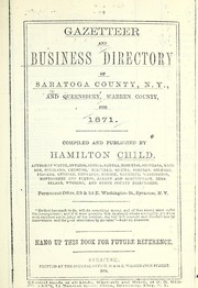 Cover of: Gazetteer and business directory of Saratoga County, N.Y.