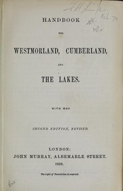 Cover of: Handbook for Westmorland, Cumberland, and the lakes