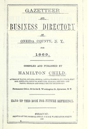 Cover of: Gazetteer and business directory of Oneida County, N.Y. for 1869