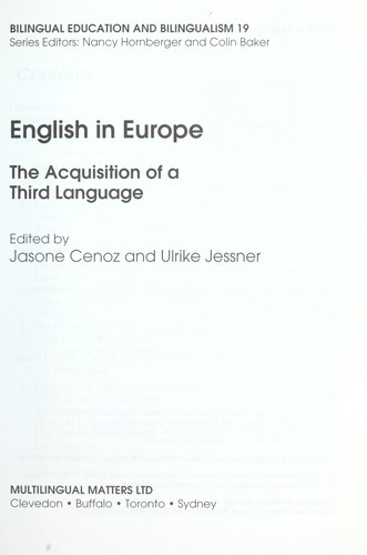 English in Europe : the acquisition of a third language by
