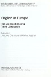 Cover of: English in Europe : the acquisition of a third language |