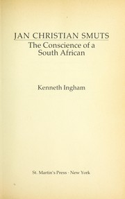 Cover of: Jan Christian Smuts | Ingham, Kenneth.