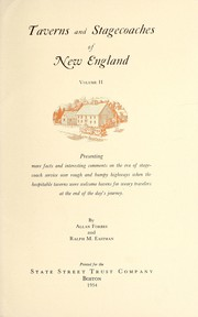 Cover of: Taverns and stagecoaches of New England