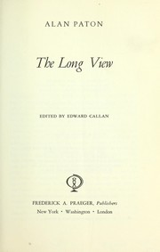 Cover of: The long view